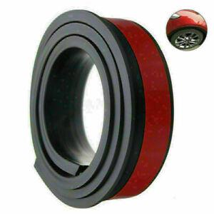 1.5M*3.8CM Car Wheel Eyebrow Arch Trim Fender Flares Protector Strips Trim Black