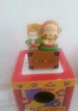 Vintage Sanrio Hello Kitty Monkichi monkey  Happy New Year Stamp  figure