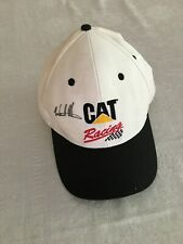 CAT Racing Autographed Signed Hat Ward Burton Caterpillar White Snap Back Cap