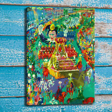 Art Painting LeRoy Neiman Mardi Gras Parade Home Wall Decor Canvas Print 24x36