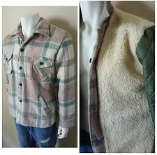 Vancort Woolworths 60-70's Shearling Vintage Plaid Ranch Jacket Coat 40 42Large