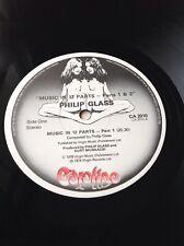 Philip Glass Music In 12 Parts Caroline Recs UK 1976 NM