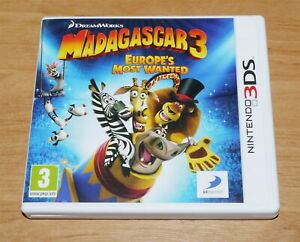 Madagascar 3 Europe's most wanted 3D Game for Nintendo 3DS & 3DS XL