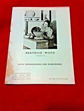 BEATRICE WOOD ceramics EXCEPTIONALLY RARE MUSEUM ARCHIVE 1st Studio  BEATO RARE+