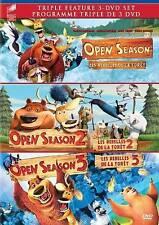 Triple Feature DVD - Open Season, Open Season 2, Open Season 3 - Sealed