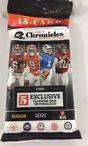 2021 Panini Chronicles Draft Picks NFL Football Cards Value Pack 15 Cards