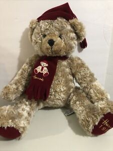 """Harrods 1999 Dated Christmas Bear, Made in 1999, 16"""" tall"""