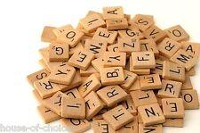 200 Madera Scrabble Azulejos Negro LETRAS PARA LOS ARTES GB vender Regalo Niños