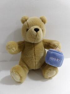 "8"" Gund Plush Stuffed Brown Classic Pooh Bear with Honey Pot"
