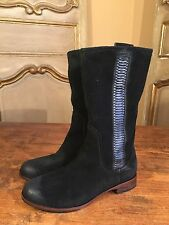 UGG Women's Campus Tall Riding Motorcycle Biker Boots Black Size Zip Size 6.5