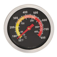 Stainless Steel BBQ Charcoal Grill Pit Wood Smoker Temperature Gauge Thermometer