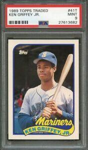 1989 Topps Traded  #41T Ken Griffey Jr Mariners Rookie Card PSA 9 Mint