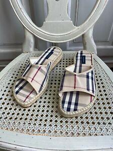 Burberry slides flipflops  Sandal shoes wedges nova check