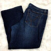 Lane Bryant 22 Petite Plus Womens Medium Wash Straight Leg Denim Jeans