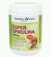 Healthy Care Super Spirulina 400 Capsules- OzHealthExperts