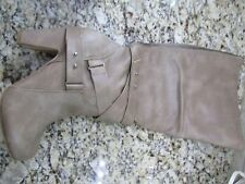 NEW STEVE MADDEN SARGENTT TALL BOOTS WOMENS 11 TAUPE HIGH BOOTS ZIP SIDE