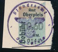 Stamp Austria Germany Revenue 1934 WWII Fascism War Era Used 3