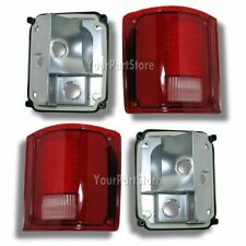 73-91 CHEVY PU PICKUP TRUCK REAR TAIL LIGHT LAMP Lamps w/o Chrome Trim PAIR