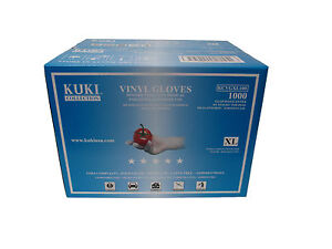 Disposable Vinyl Gloves - Extra Large - Case of 1000 - Kuki Collection