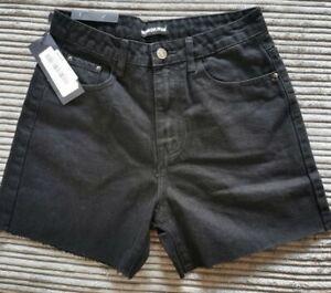 NEW! SALE! Momokrom Denim Jeans Shorts UK8 EU36 W26 black