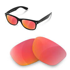 Polarized Replacement Lenses for Rayban 2132 new wayfarer 52 size ruby red color