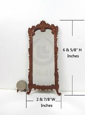 Miniature 1:12 Scale Victorian Carved Hall Mirror For Doll House [WN]