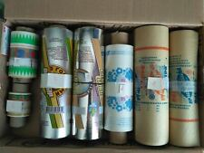 old roll foil parchment wrapping paper