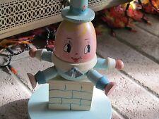 Vintage~Wooden~Humpty Dumpty Nursery Lamp~ Nursery Plastics Inc