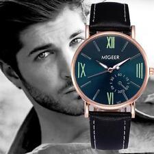 Männer Armbanduhren Römer digital Leder Edelstahl Analog Casual Wrist Watches