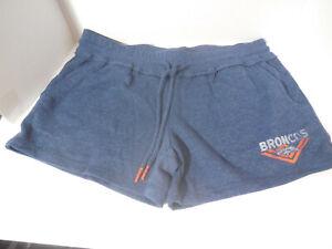 New Womens Denver Broncos Lounge Shorts NFL Shop Authentic Size Medium Blue
