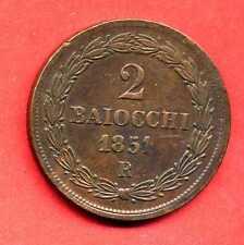 (ET 5) VATICAN PI IX  2 BAIOCCHI 1851 R ANNO VI  (SUP)