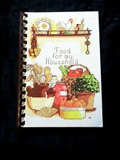 1986 FOOD FOR MY HOUSEHOLD COOKBOOK~MOUNT HOLLY,NJ. ST.PAULS CHURCH SPIRAL BOUND