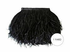 1 Yard - Black Ostrich Fringe Trim Wholesale Feather Halloween Prom Costume