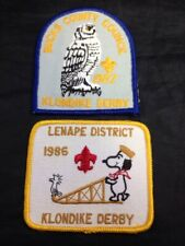 Vintage 1980s Boy Scout Klondike Derby Patches Bucks County Pennsylvania Lenape