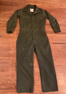 Vintage Army Green Men's Utility Jumpsuit Size Large