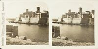FRANCE Antibes Vue sur Les Remparts, Photo Stereo Vintage Argentique PL62L11