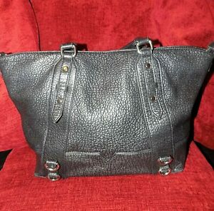 Next Black Croc PU Shopper Bag Hardly Used
