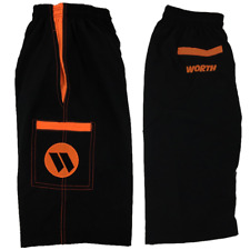 Worth Microfiber Shorts (Black/Orange) Small