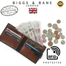 WOODBRIDGE MENS BLACK & BROWN LUXURY GENUINE LEATHER CREDIT CARDS & NOTES WALLET