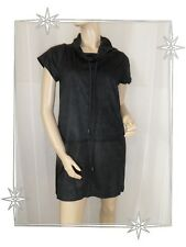 B - Magnifique Robe Tunique Noir Bi Matière Mod. Wang Lauren Vidal Taille S - 38