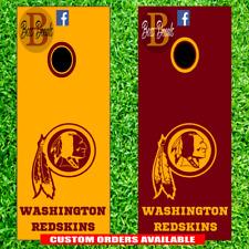 Washington Redskins Corn hole Set of 6 Vinyl Decal Stickers cornhole Game DC