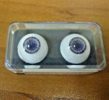 24 mm Blue Vintage Handblown Glass  15mm Iris G1