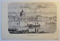 Collège des Quatre-Nations sous Louis XIV - Holzstich - ca. 1880 -