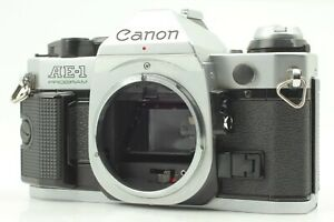 【 Near Mint 】 CANON AE-1 PROGRAM Silver body SLR 35mm Film Camera from Japan 266