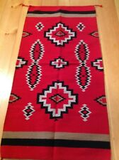 Navajo Design/Southwestern Acrylic Rug or Wall Hanging 32 X 64 Red, Black,White