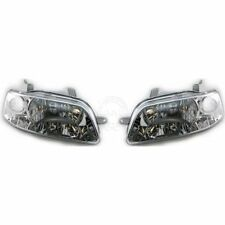 Headlights Headlamps Pair Set Left LH & Right RH for 04-06 Chevy Aveo