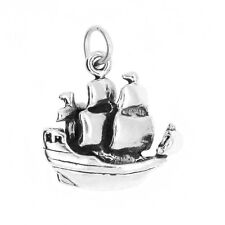 STERLING SILVER CARRIBEAN PIRATE SHIP CHARM OR PENDANT