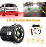 HD Car Rear View Parking IR Night Vision 8 LED Reverse Backup Camera Waterproof