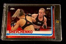 2019 TOPPS UFC CHROME VALENTINA SHEVCHENKO RED REFRACTOR SSP #'d 4/5!
