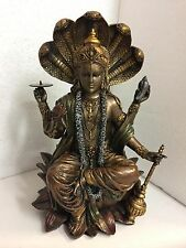Hindu Krishna Enthroned Vishnu Narayana Preserver Protector Rama Figurine Statue